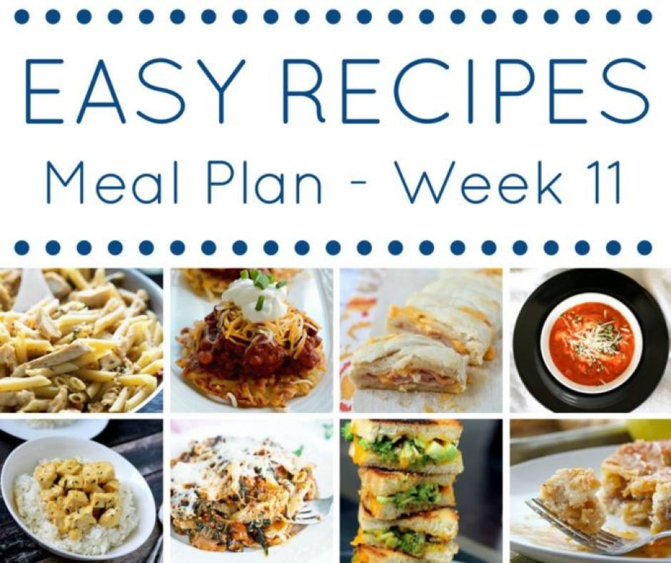 Meal Plan Easy Recipes, perfect for the whole family!
