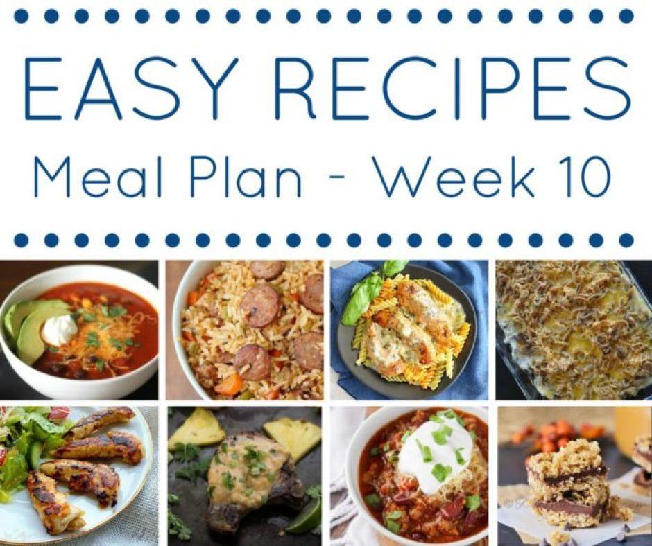 wk 10 meal plan