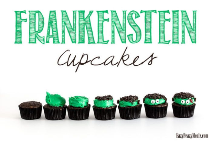 Easy to make Frankenstein Cupcakes are the perfect Halloween activity and treat!