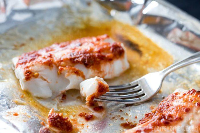 A bite of harissa baked haddock