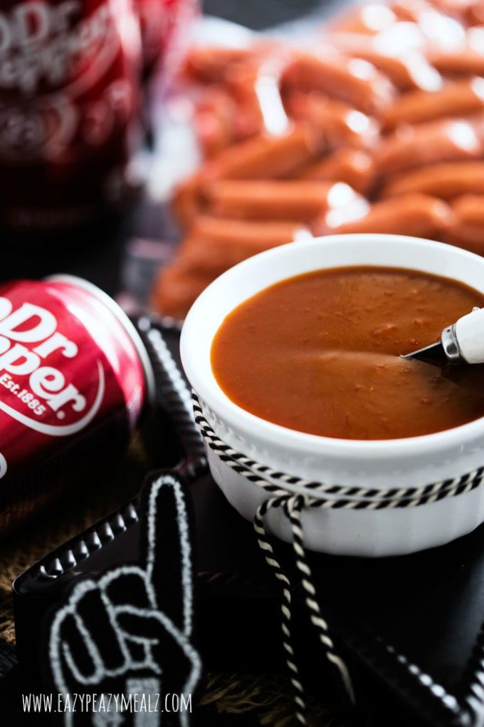 Dr Pepper BBQ Little Smokies: sweet sauce glaze