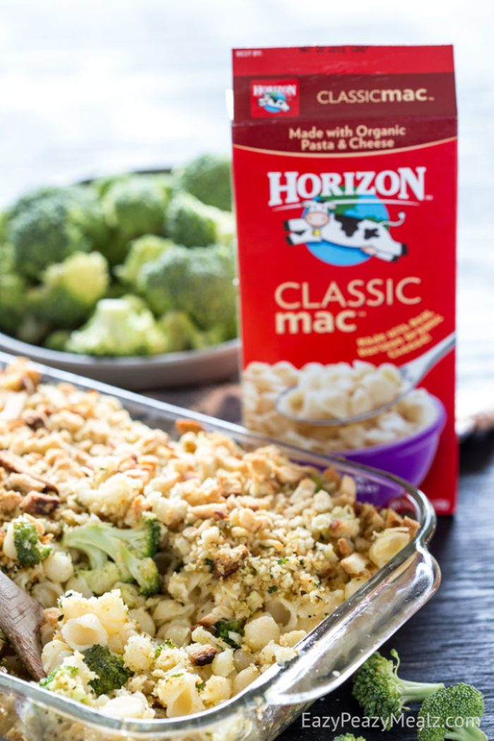 Horizon mac and cheese makes a quick and easy base for this recipe.