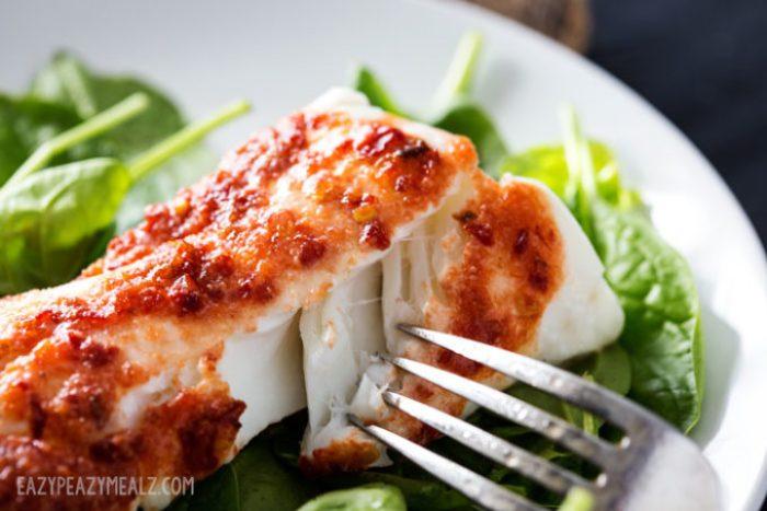 A lovely flaky baked haddock
