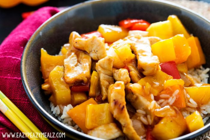 Sweet and sour chicken makes an easy and delicious weeknight meal.