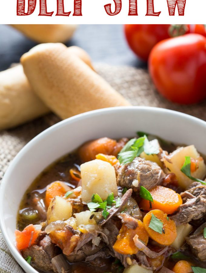 An Italian beef stew that is made in the slow cooker, and absolutely delicious