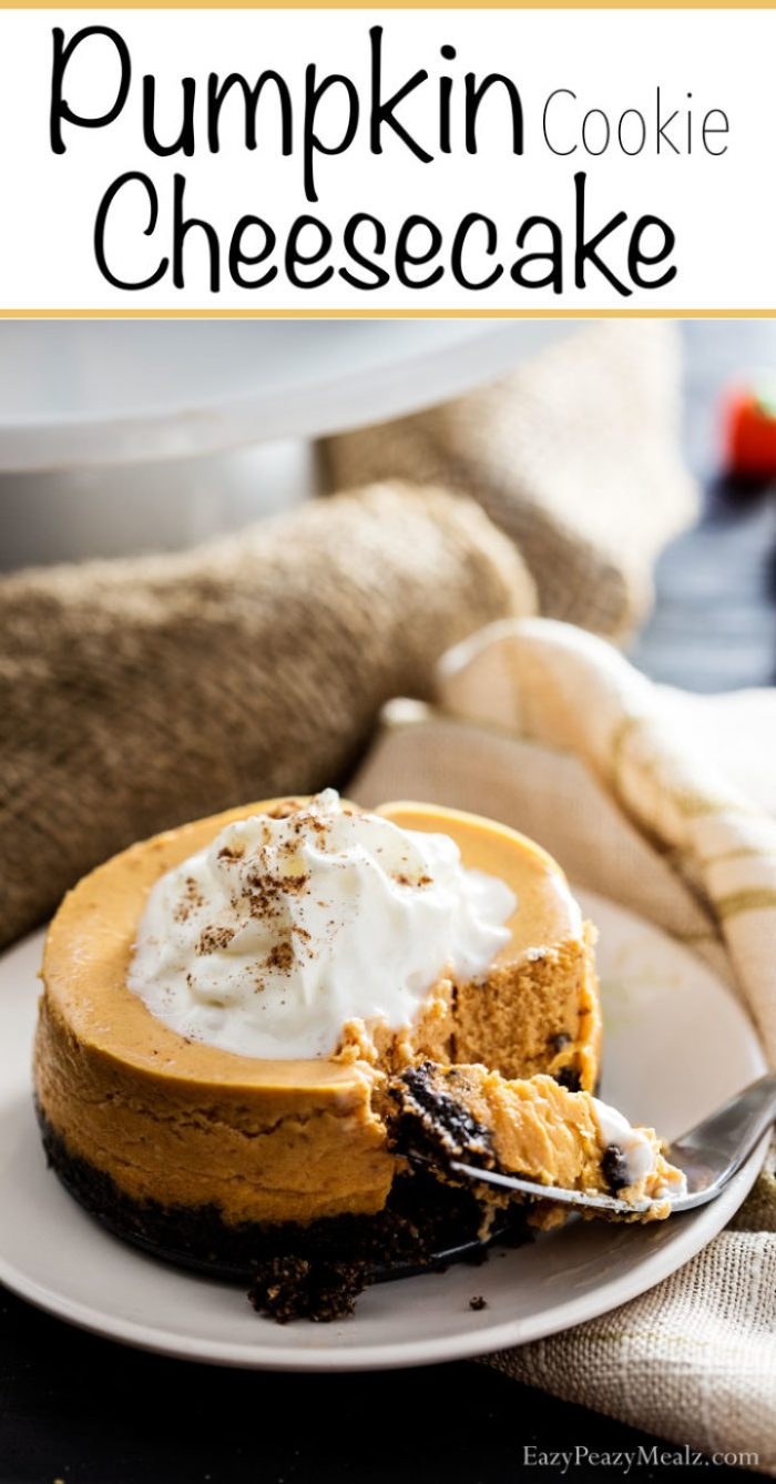 Pumpkin cookie cheesecake is a simple, easy to make, dessert made with Greek Whips!