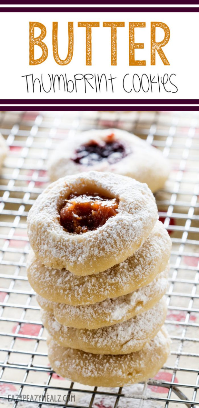 Butter thumbprint cookies are easy to make and perfect for holiday baking. Yum!