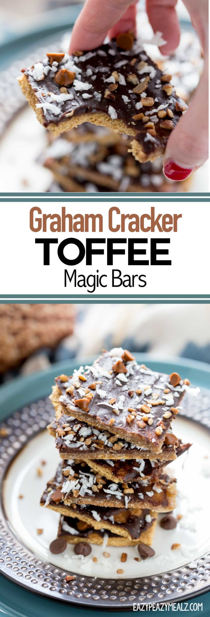 Graham Cracker Toffee Magic Bars are like the perfect mix between graham crackers, toffee, and magic bars. So easy to make and very delicious.