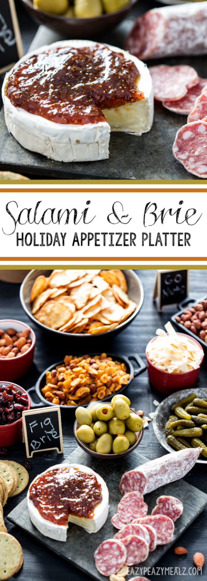 Salami and Brie are the foundation of a great holiday appetizer platter. The Barolo Salami pairs well with sweet and savory.