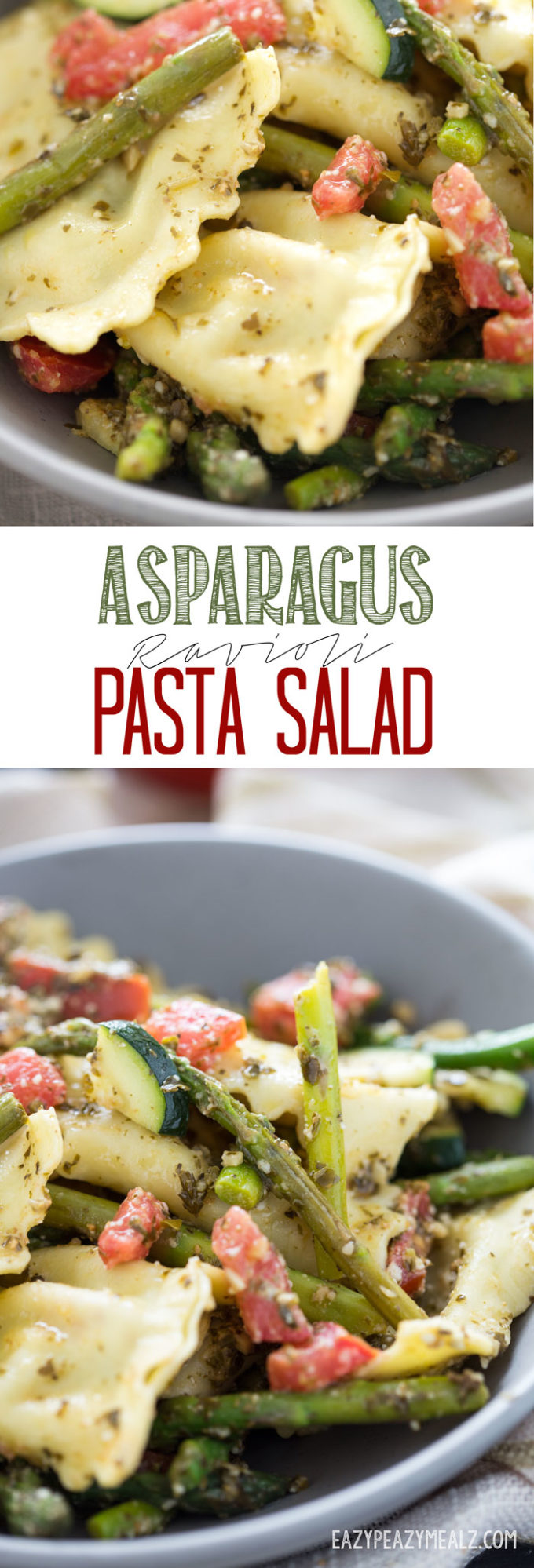 Asparagus Ravioli Pasta can be served hot or cold and is an excellent party food!
