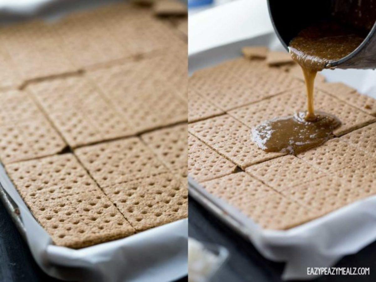 graham-cracker-toffee-making