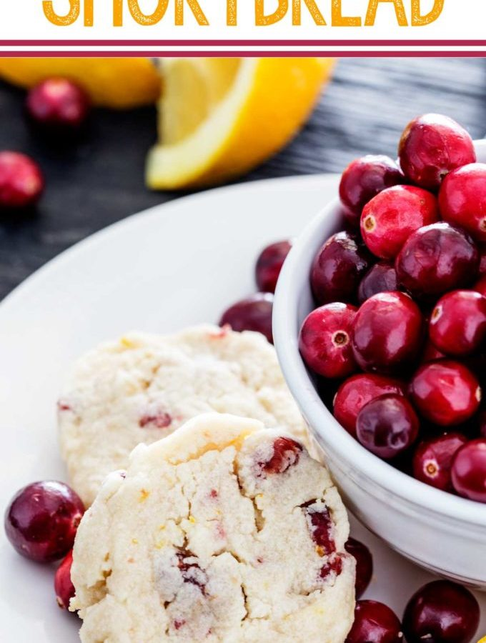 Cranberry orange shortbread is flavorful and easy to make and great for holidays
