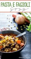 Pasta e fagioli with delicious shortcuts, this olive garden copy cat is amazing