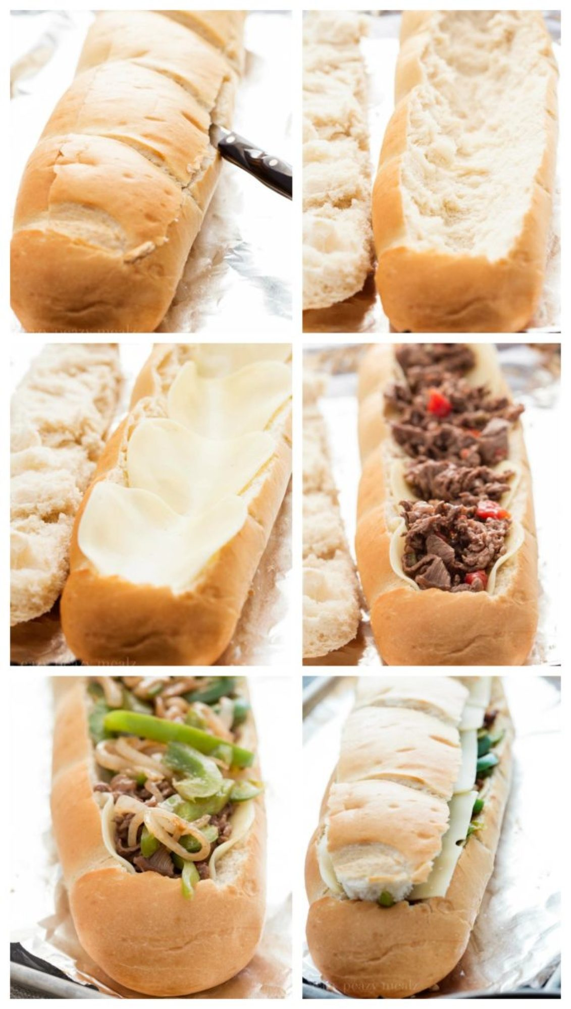 Stuffing the bread collage