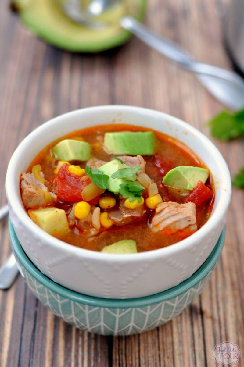 Easy Pork Enchilada Soup