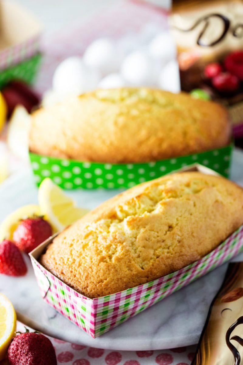 lemon pound cake freshly baked