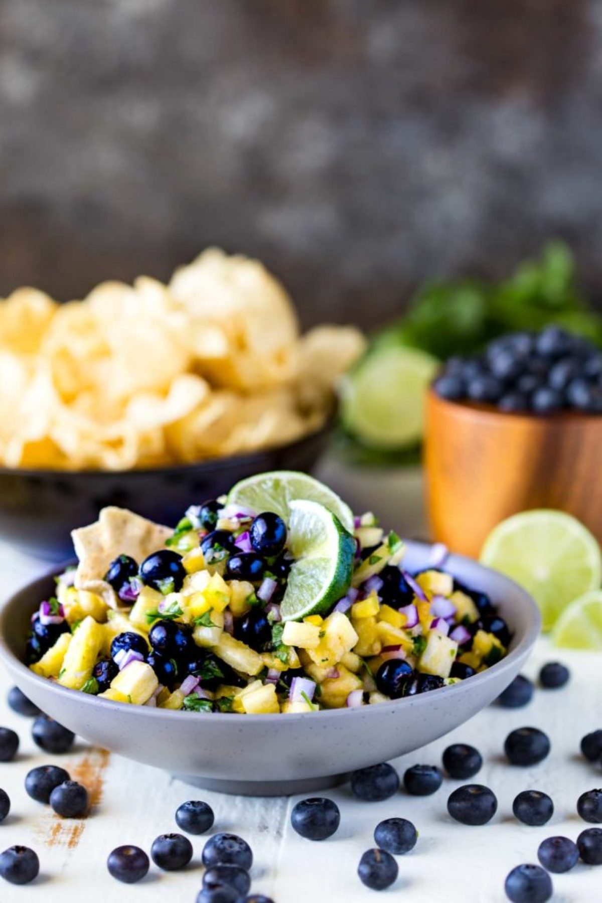 Blueberry Fruit Salsa, a great blueberry and pineapple salsa!