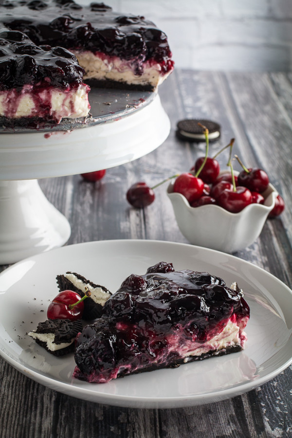 no bake cherry cheesecake