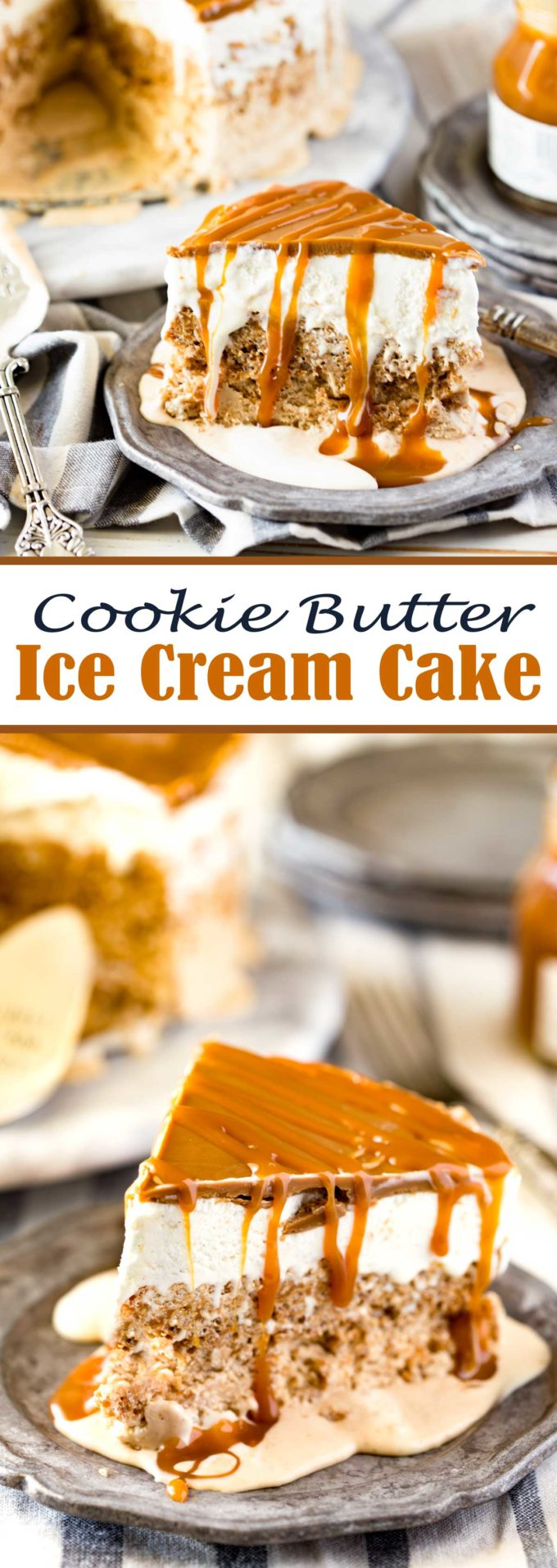Cookie Butter Ice Cream Cake Recipe for Summer Dessert