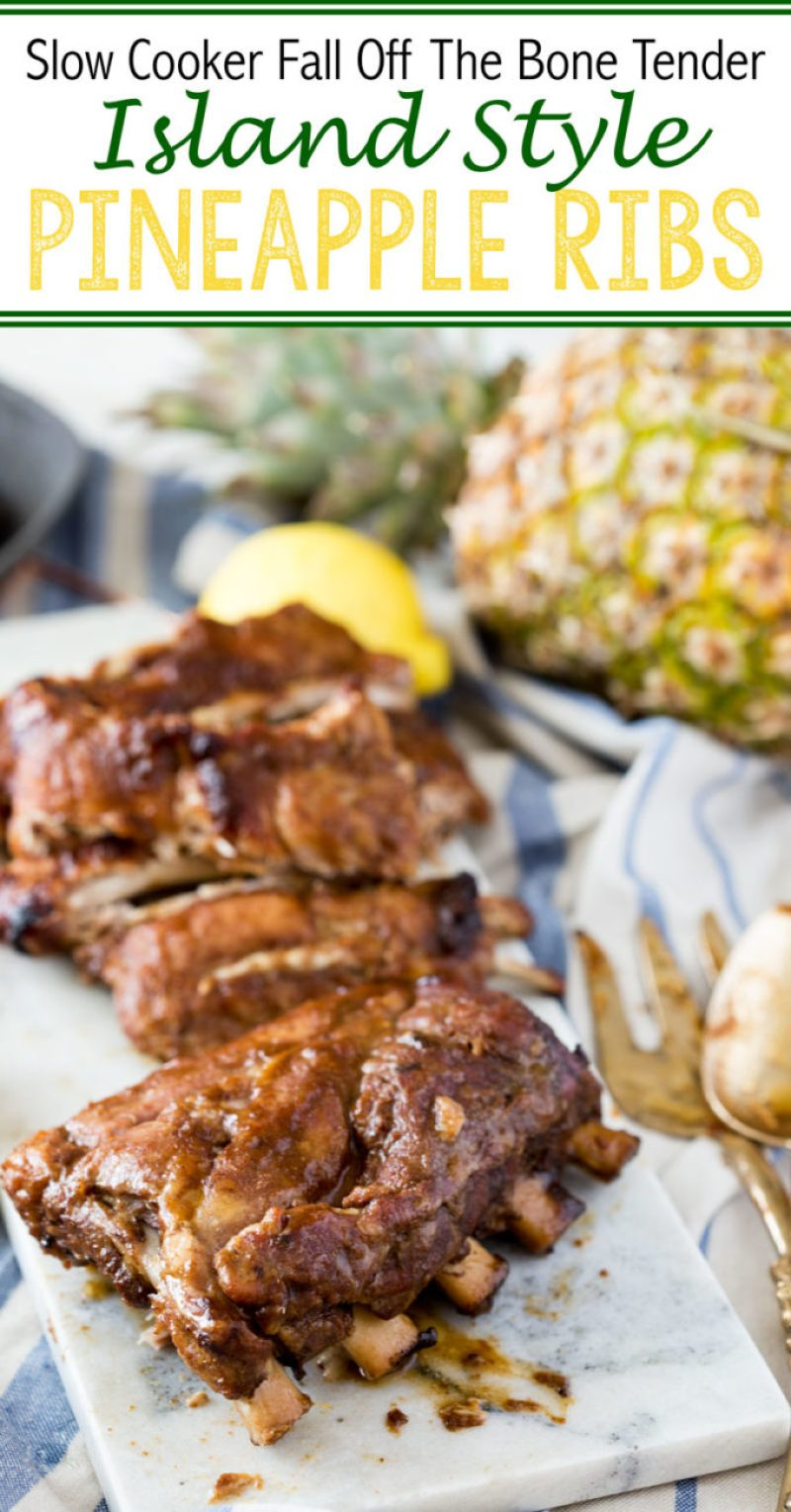 Slow Cooker Island Style Pineapple Ribs