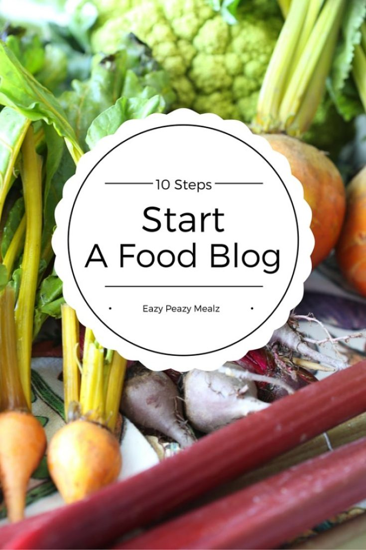 10 steps to start a food blog
