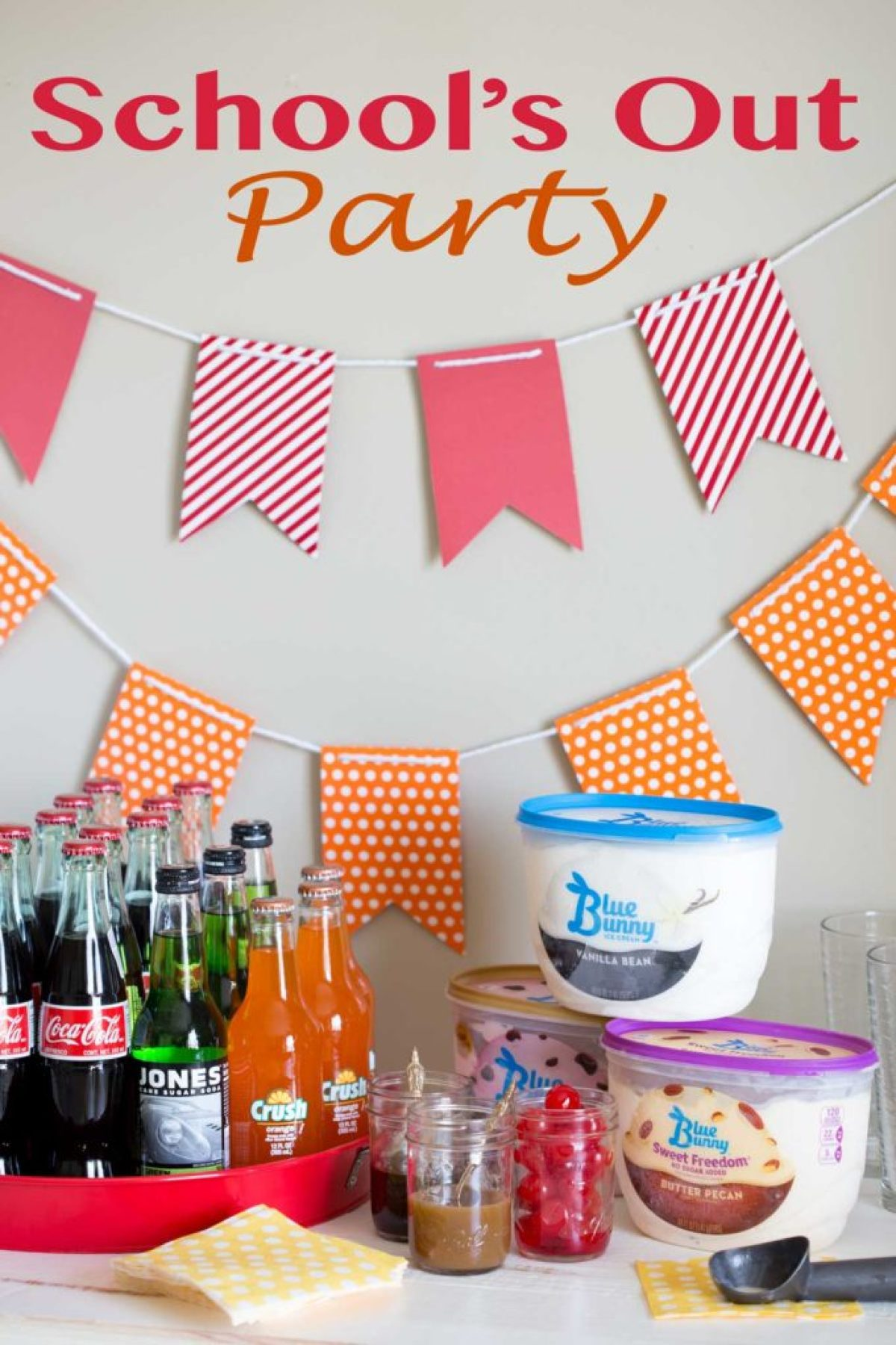 School's Out Party plan with ice cream float bar