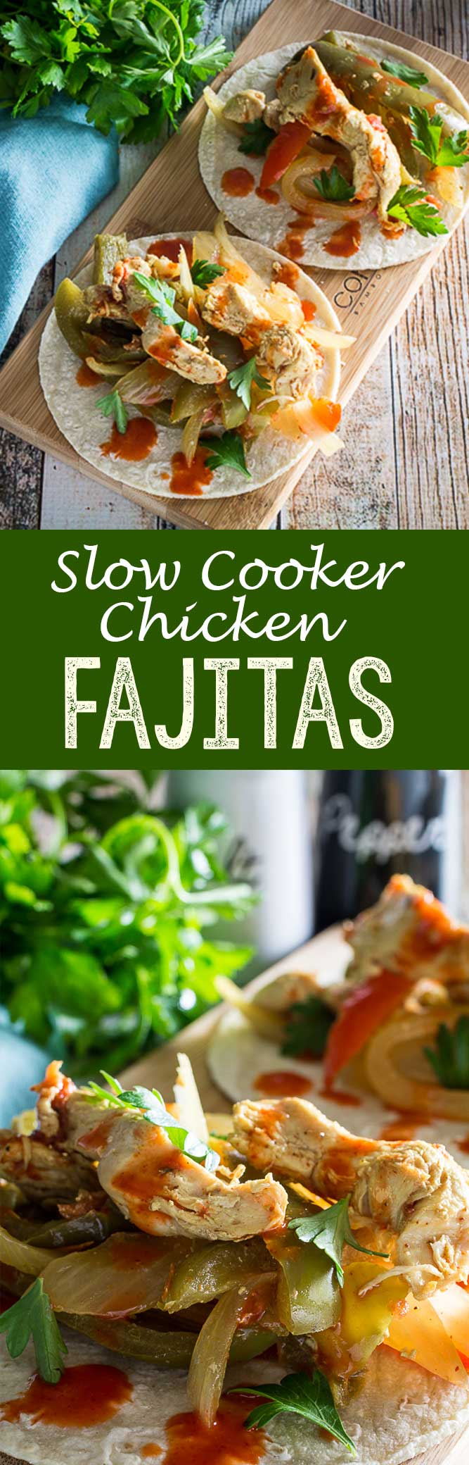 Crockpot Chicken Fajitas: Incredibly easy and delicious Slow Cooker Chicken Fajitas! This recipe is a set-it-and-forget-it meal your whole family will love.
