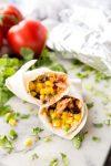 BBQ chicken burritos that are freezer friendly
