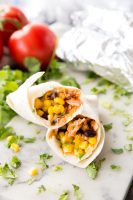 BBQ chicken burritos that are freezer friendly