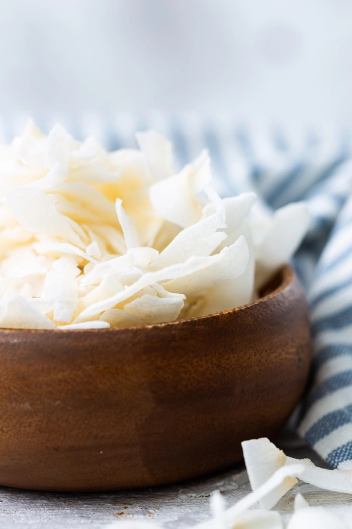 Coconut chips are a low carb or keto friendly snack