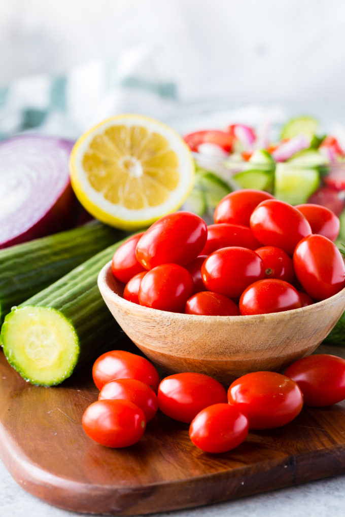 What you need for a Greek salad