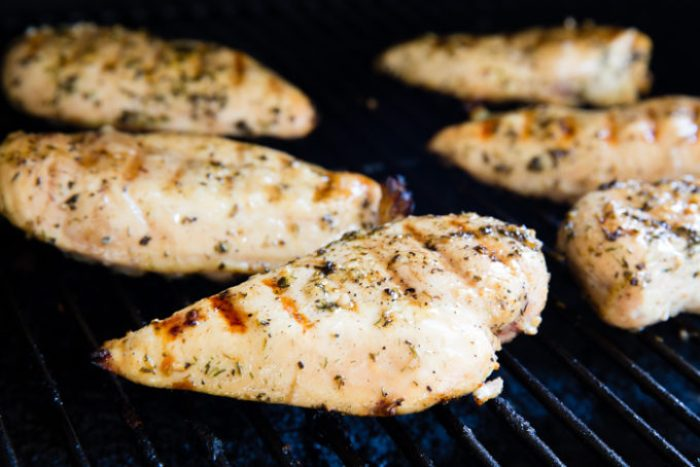 Grilling Greek chicken on your grill grate