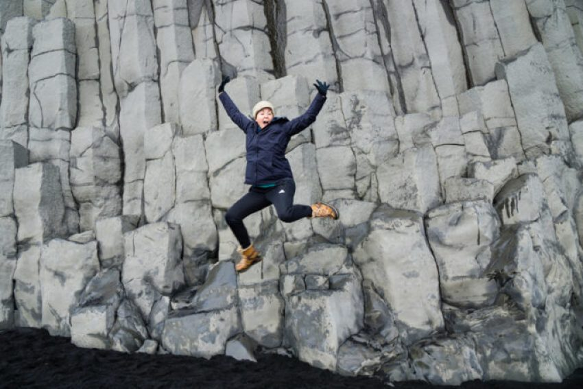 Basalt stones at Vik, in Iceland
