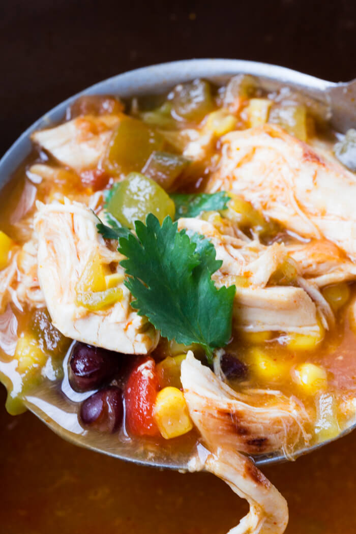 Chicken Taco Soup, made in the pressure cooker Instant Pot