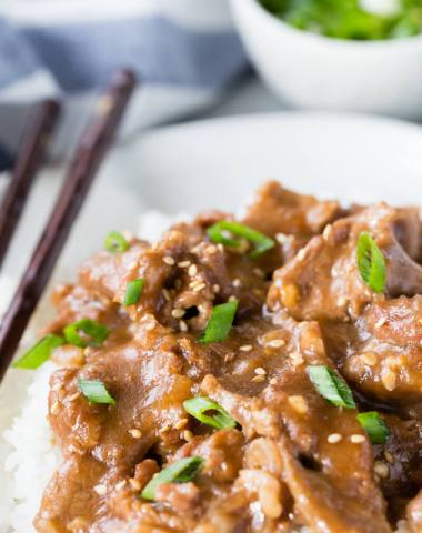 Easy instant pot Mongolian beef, makes a great dish that is better than take-out