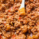 Sloppy Joe filling made in the pressure cooker instant pot