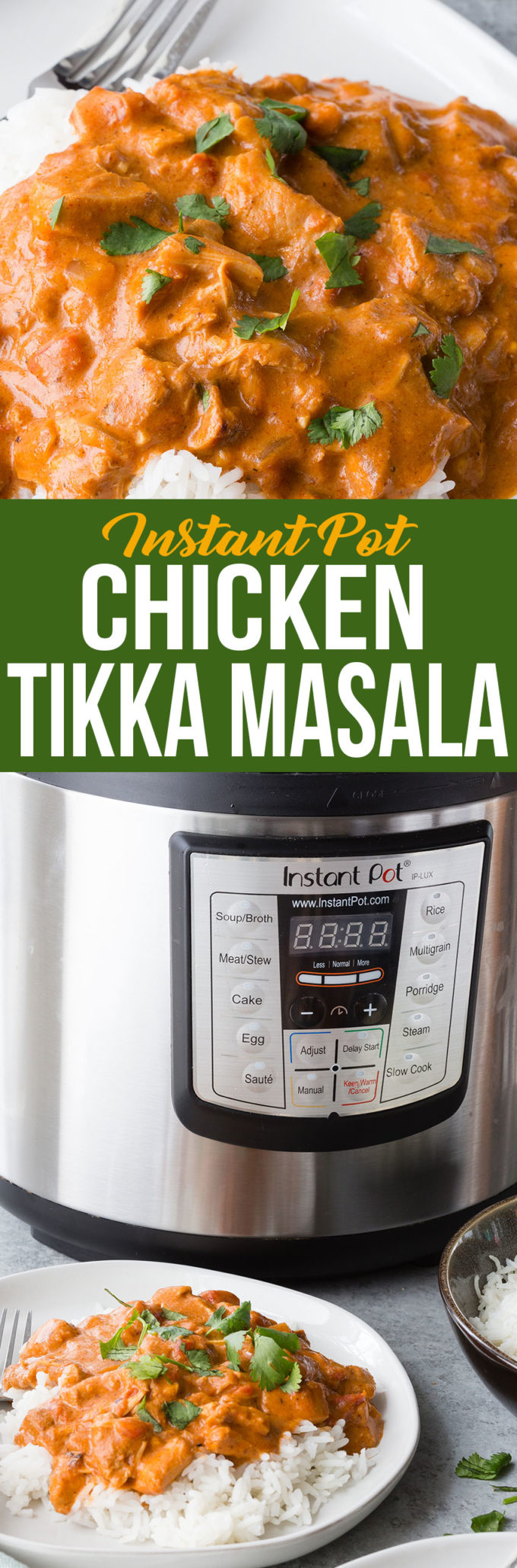 Easy to make instant pot chicken tikka masala, rich creamy tomato sauce, chunks of tender chicken and so much spice. Yum!