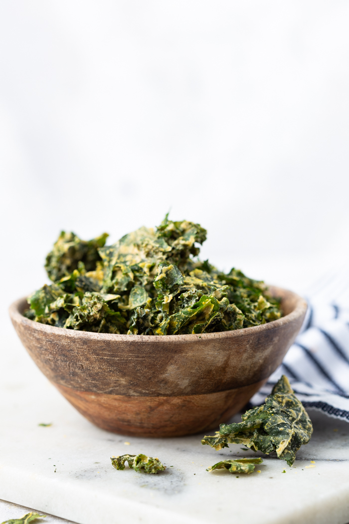 Kale chips are a fantastic low carb snack for a keto friendly diet
