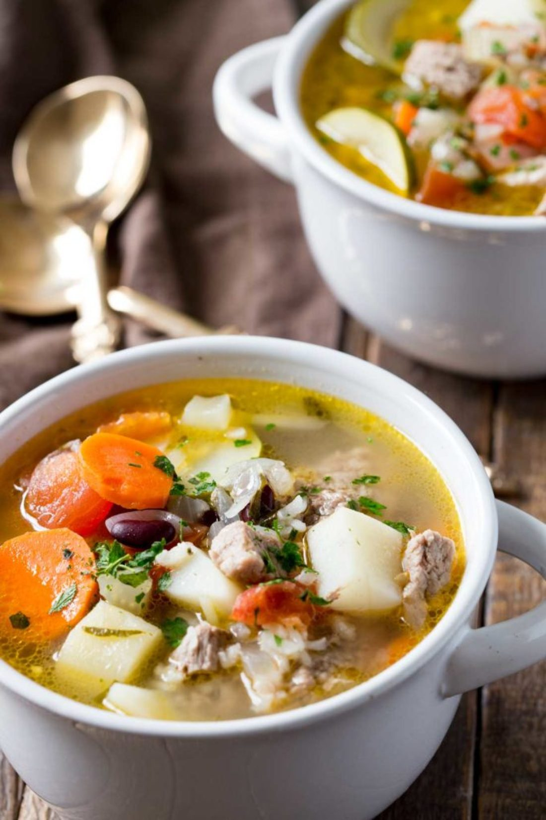 Classic ministrone soup that will warm you from the inside out!