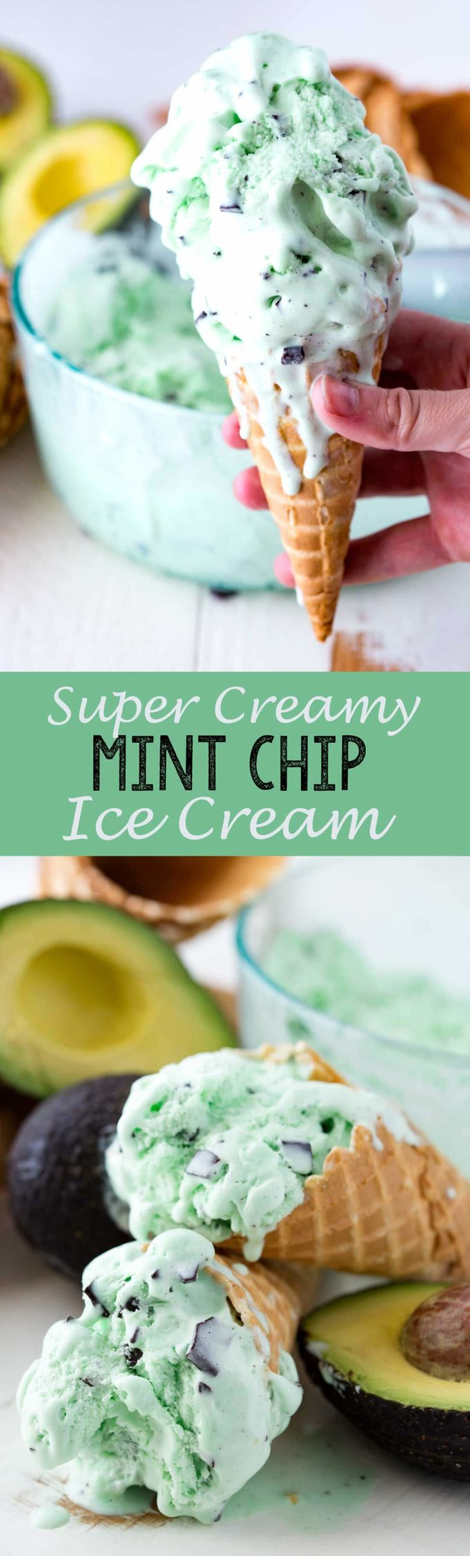 Super Creamy Mint Chip Ice Cream with secret ingredient is a fantastic refreshing way to cool down!