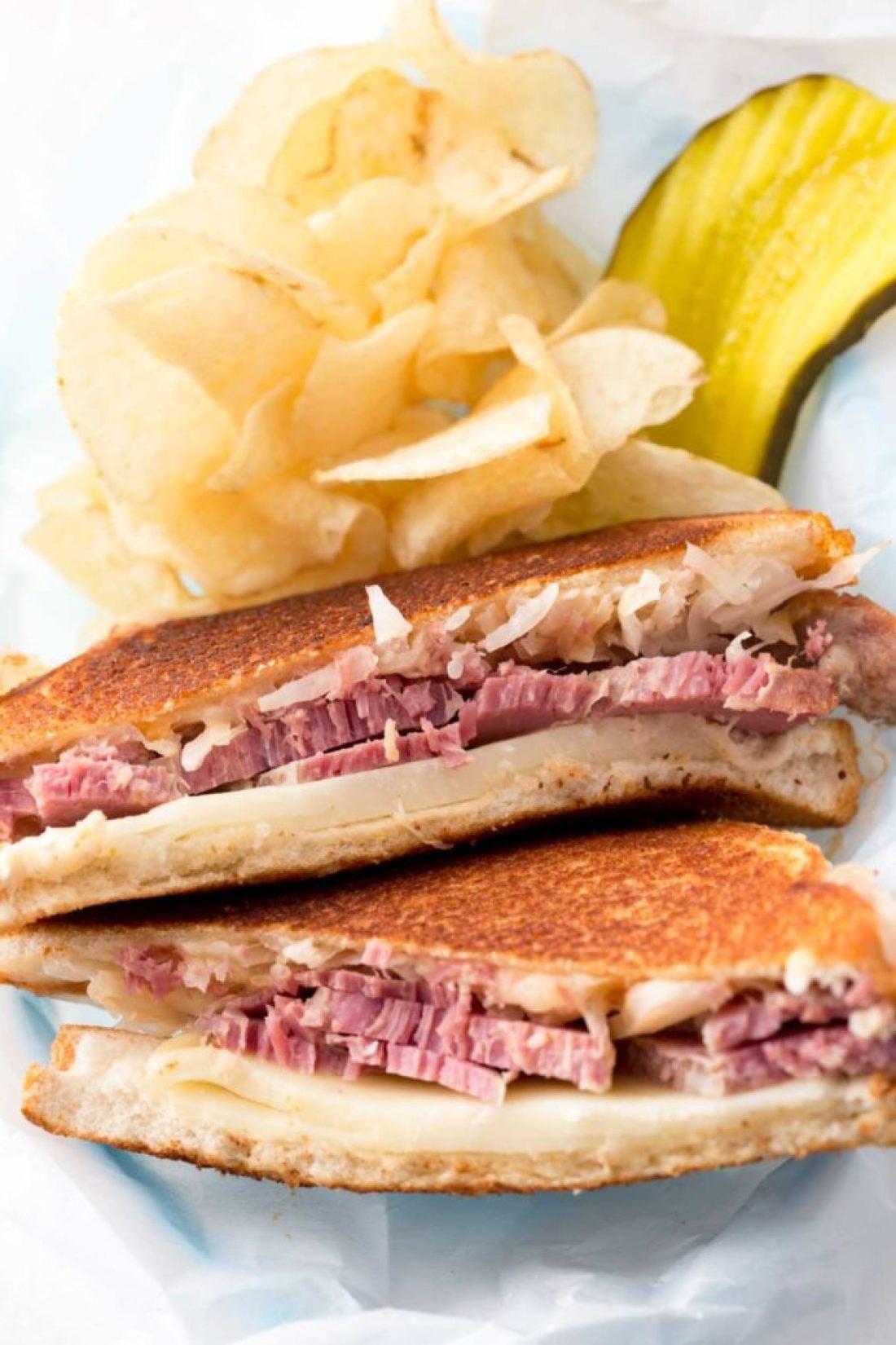 Updated reuben sandwich recipe using white bread