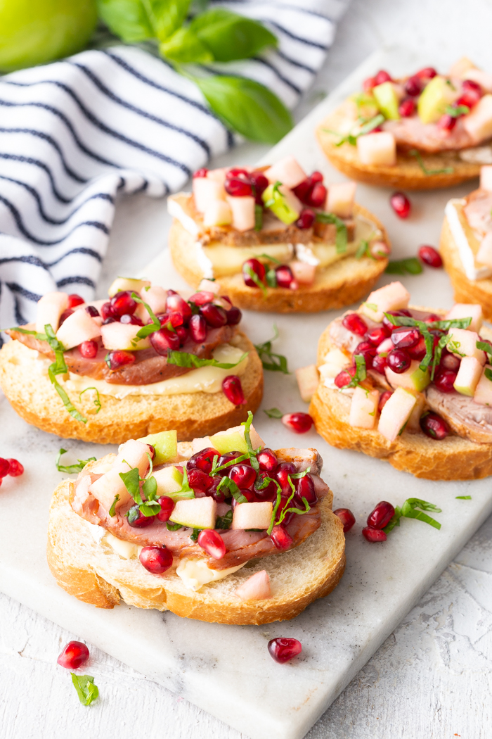Roasted pork crostini a great holiday appetizer