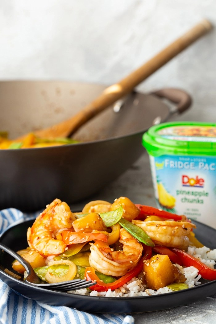 Teriyaki Shrimp Stir Fry