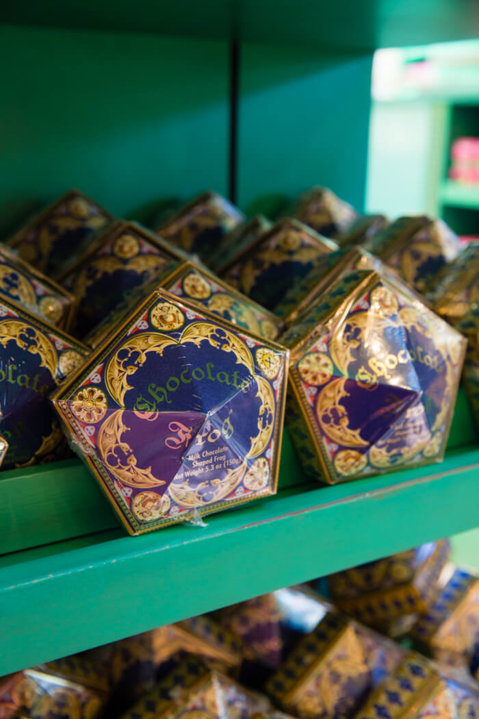 Chocolate frogs from Honey Dukes in Harry Potter