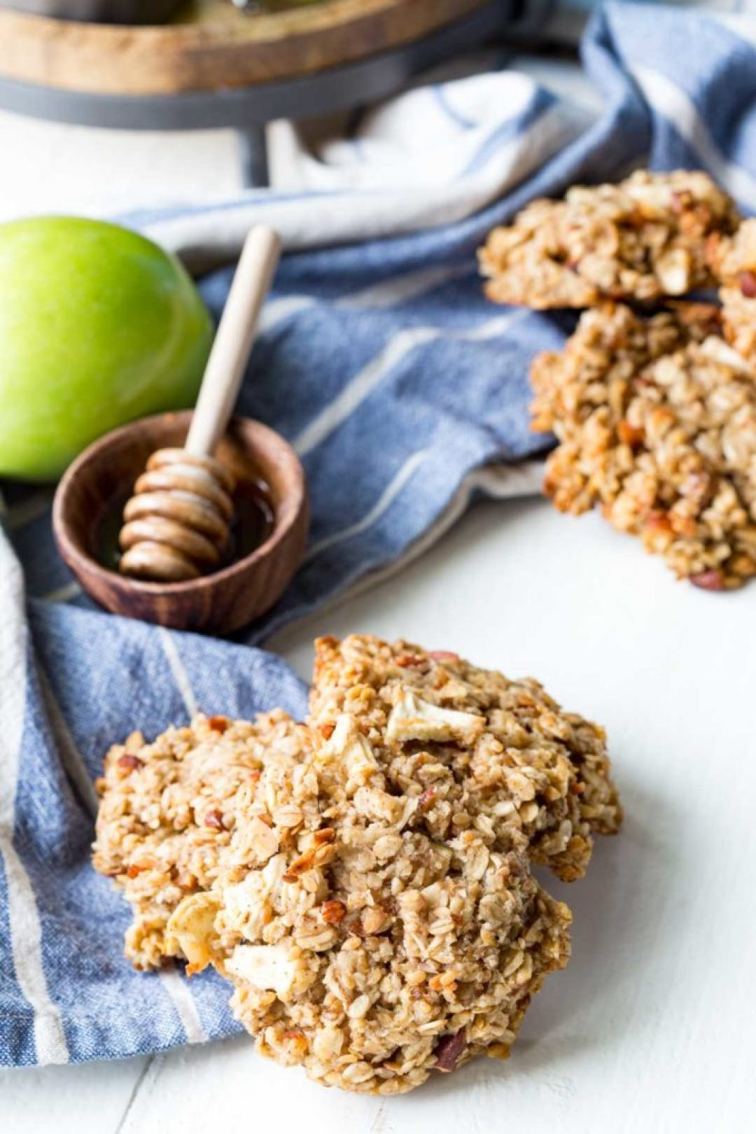 Apple pie breakfast cookies made with protein for a healthy, filling breakfast that tastes like a treat