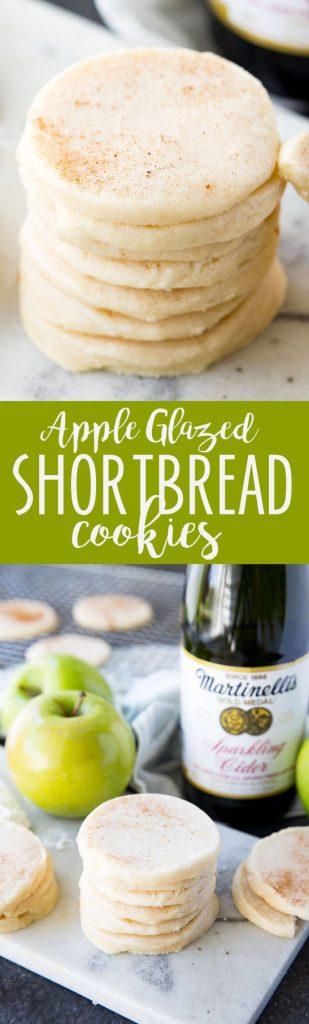 Martinelli's Apple Glazed Shortbread Cookies