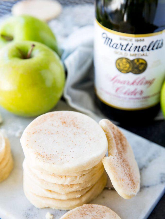 Apple Glazed Shortbread Cookies