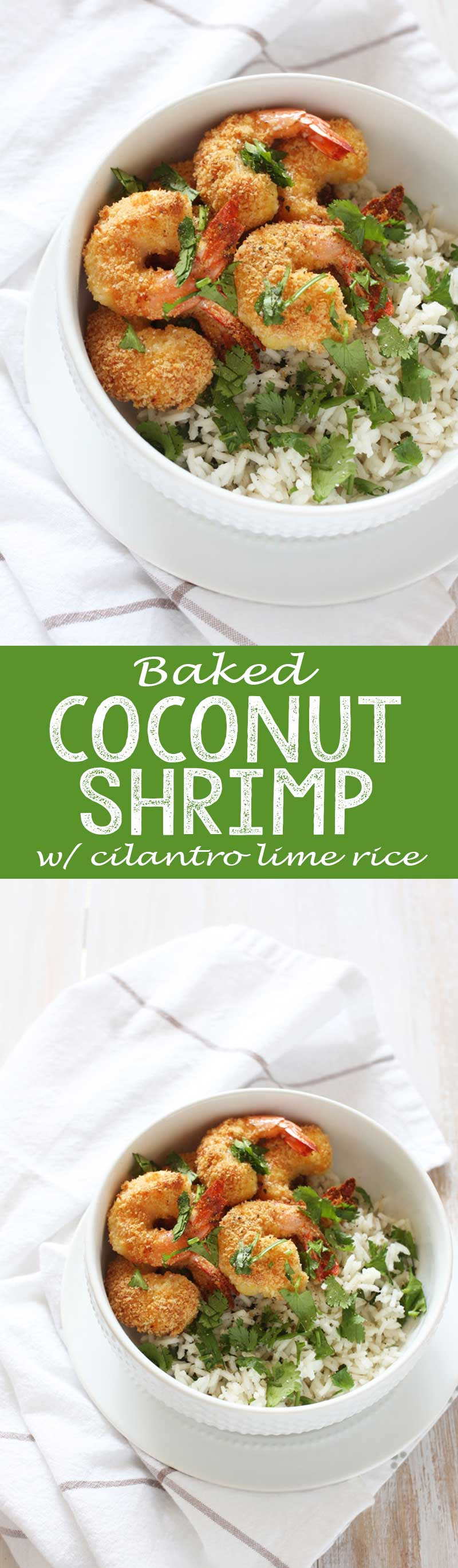 Baked Coconut Shrimp with Cilantro Lime Rice