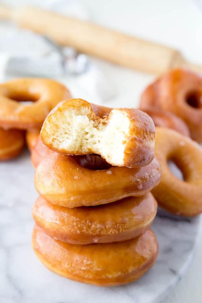 Light and fluffy Krispy Kreme Copy Cat Doughnuts