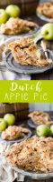 Dutch apple pie, thick apple slices, perfectly spiced, and a crumble topping.